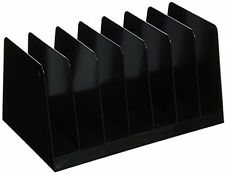New Desk Sorter Separator Vertical Tray, 7 Compartments for Phones Paper Holder