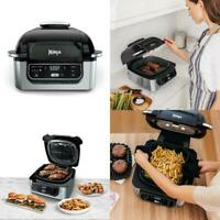 Ninja Food 4-in-1 Indoor Grill with 4-Quart Air Fryer with Roast, Bake, and Cycl
