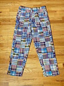 Castaway Original Madras Trading Company Patchwork Pants Men's Size 32x30