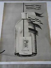 PUBLICITE 1964  Canoe parfum Dana