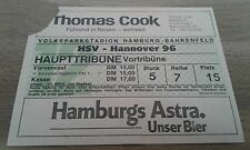 Ticket HSV - Hannover 96, Sammelkarte, Hamburger SV,  1972, Ultras, 1973, DFB,