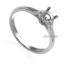 Platinum 950 Engagement Ring Setting For Round Stones .65ct to .75ct.