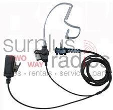 New 2 Wire Surveillance Headset For Vertex Yeasue Radios Vx160 Vx180 Vx210 Vx351
