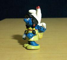 Smurfette & Sleeping Baby Smurf Indians Vintage Figure Smurfs Toy Figurine 20555