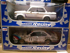 LOT OF 2 MODELS BMW 2002 Turbo & 635 CSi Racing White by ANSON 1:18 LOWER PRICE