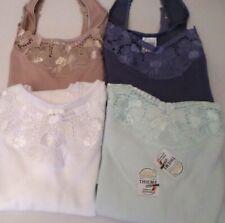6-er Pack Damen-Unterhemden Unterwäsche Thieme  Baumwolle Gr.38 NEU (9-18)