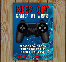 Gamer | Computer Gamer |gaming wall sign | Keep Out Gamer At Work Leave Food