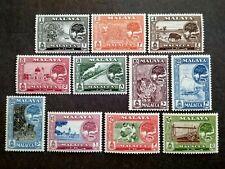 Malaya 1960 Malacca Tree Complete Set - 11v MNH