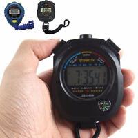Fashion Digital LCD Stopwatch Chronograph Timer Counter Sports Alarm Tool Sot