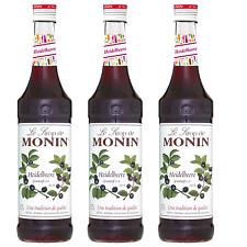 Monin Sirup Heidelbeere, 0,7L, 3er Pack