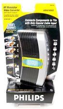 NIB Philips RF Modulator Video Converter w/ Stereo Outputs # PH61155