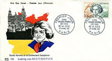 FRANCE 1963 - FDC 1382 2 GRAND HOMMES DE LA CEE BEETHOVEN - pn