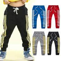Baby Boy Girls Sports Pants Toddler Kid Sweat Pants Joggers Elastic Bottoms 2-7T