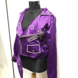 Purple stage satin jacket / Selena  inspired jacket