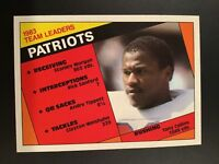 1984 Topps #131 TONY COLLINS TL New England Patriots Set Break MINT