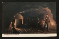 postcard Germany Mining Bergbau Horse Kohlenbeförderung Pferdebetrieb