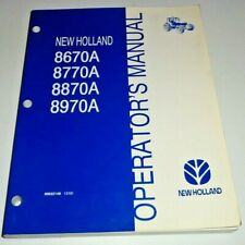 New Holland 8670A 8770A 8870A 8970A Tractor Operators Manual NH Original! 12/00