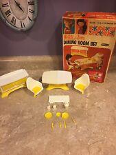 Vintage 1966 Remco Dining Room Set Heidi Jan Miniature Doll