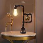 Retro Steampunk Industrial Water Pipe Reading Table Lamp Bedside Desk Light