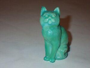 Mosser Glass Cat Figurine Mint Green Slag