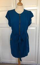 Boutique by JAEGER blue Silk Dress Size Medium UK 12
