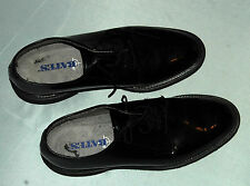 Bates Mens 9.5 Mens Shoes Long-wearing Non-marking Uniform Black Lace Footwear