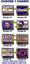 Minnesota Vikings Custom Italian Charm NFL, Vikings Girl, Choose! best on eBay!