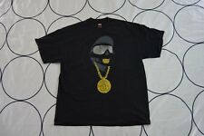 Vintage Stussy Gold Golden Sparkles Hip Hop Chain Teeth Mug Grill Tshirt XL TEE