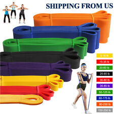 Resistance Bands Loop Set Strength Fitness Leg Gym Exercise Yoga Workout Pull Up