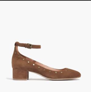 EUC MADEWELL Brown Suede Wrap Around Shoes Nailhead Detail SZ 10