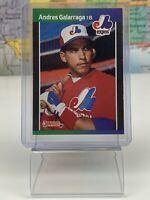 SHIPS SAME DAY Donruss 89 Baseball Card Andres Galarraga #130 Montreal Expos