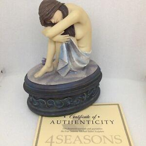 Flambro USA 4 Four Seasons MICHAEL TALBOT Sculpture WINTER Lidded Box NIB