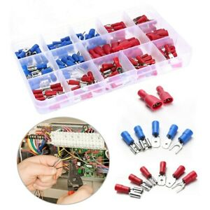 140Pcs Assorted Insulated Electrical Wire Terminals Crimp Connectors Spade Kit