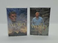 Charlton Heston The Word the life & teachings of Jesus Selected Psalms Cassettes
