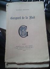 BERTRAND Aloysius. Gaspard de la Nuit. Ed. complète. Connaissance. 1920. 1/350
