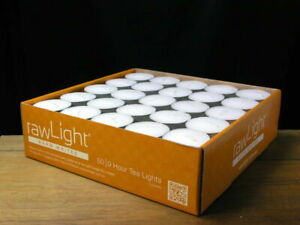 TEA LIGHT CANDLES - 50 Pack - 8-9 Hour - White - Unscented