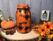 Halloween Plaid vase