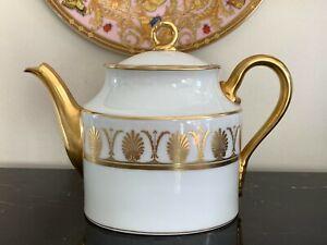 "Richard Ginori Pompei Gold 4-Cup Teapot 5 1/2"" High"