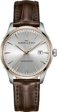 NEW HAMILTON JAZZMASTER GENT QUARTZ LEATHER STRAP MEN'S WATCH H32441551