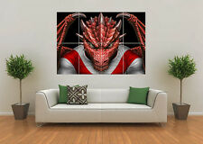 ST GEORGE DRAGONS INSPIRED RUGBY LEAGUE NRL MASCOT GIANT WALL ART POSTER PRINT