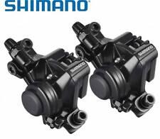 2x Shimano BR-M375 Cable Disc Brake Front & Rear Caliper BLACK inc. B01S Pads