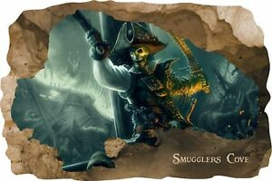 Huge 3D Smugglers Cove Pirate Cave View Wall Stickers Mural  Decal Film 20