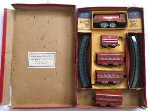 Vintage Mettoy Railways Tinplate Clockwork Streamline Miniature Train Set 5703