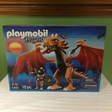 RARE BRAND NEW PLAYMOBIL DRAGONS PLAYSET WITH FIGURE 15 PIECES  #5483 SHIPS FREE