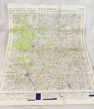 1948 Vintage Military Map of Bury St Edmunds Thetford Stowmarket MOD Issue