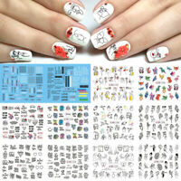 Animals Love Mixed Designs Watermark Decals Water Transfer Nail Art Sticker DIY