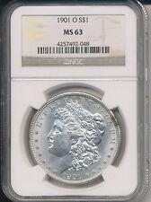 1901-O MORGAN SILVER DOLLAR-STUNNING! **NGC CERTIFIED MS63** FREE SHIPPING!