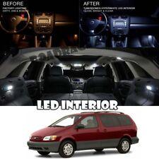 For 98-03 Toyota Sienna Interior LED Xenon Light Bulb 5050 Full Package Kit 15PC