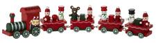 "Christmas Train Red Wood Figurine 10x2"" Table Mantle Tree Decor Ganz"