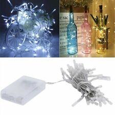 3 mt filo mini luci led a batteria punto luce bianca calda lampadina lucciole